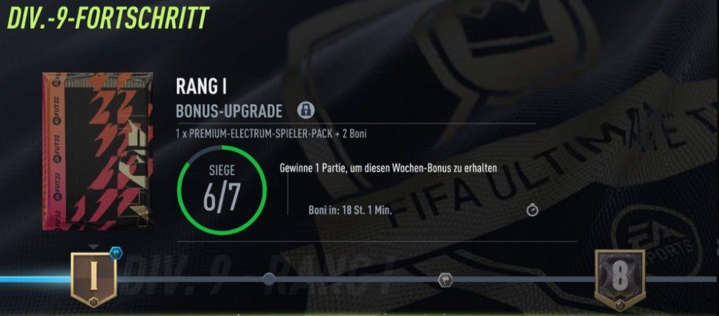 FIFA 22 Division Rivals Belohnungen