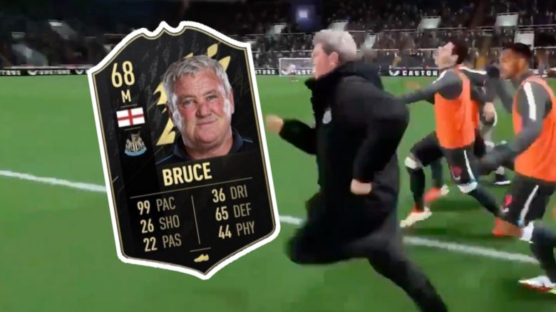 FIFA 22 Steve Bruce Trainer Sprint