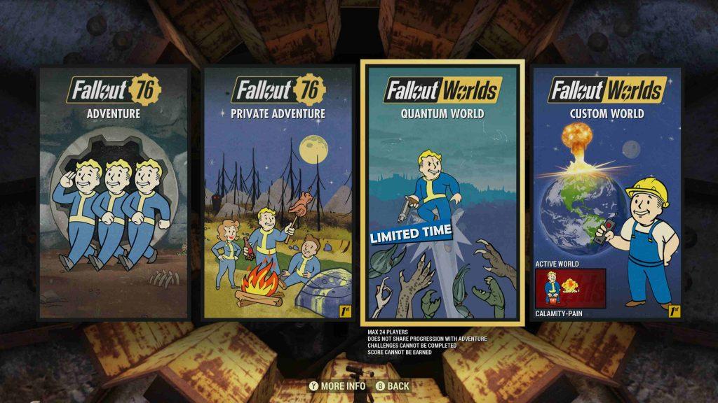 Fallout 76 Worlds - Modi