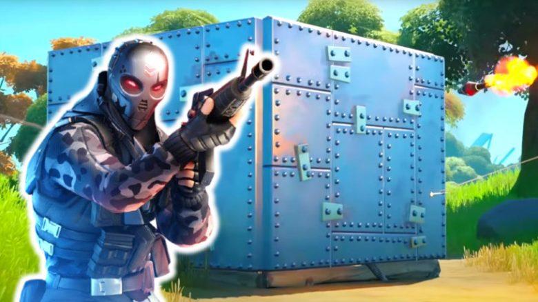 Fortnite: Spieler umgeht feindliche Panzerwand mit einem grausamen Trick