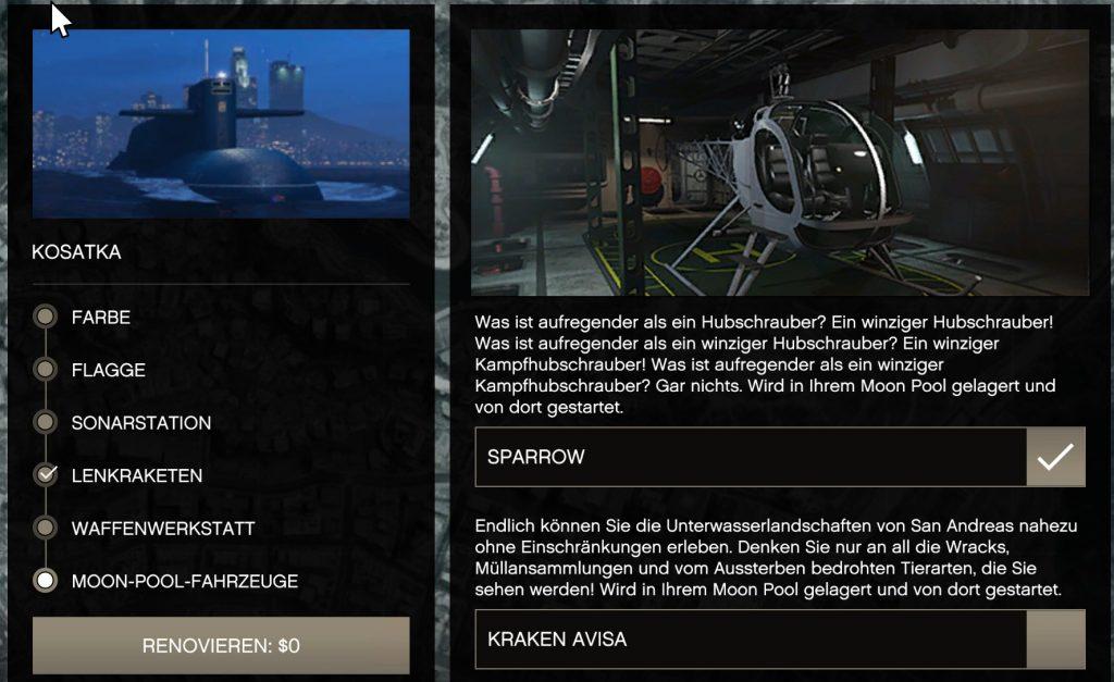 GTA Online Sparrow Händler
