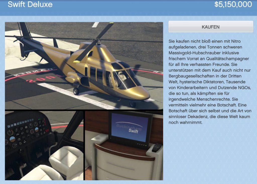 GTA Online Swift Deluxe
