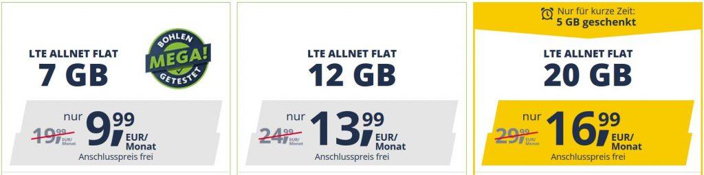 LTE Flatrates Freenet Mobile