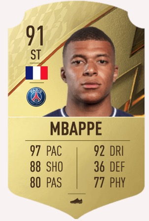 FIFA 22 Mbappé
