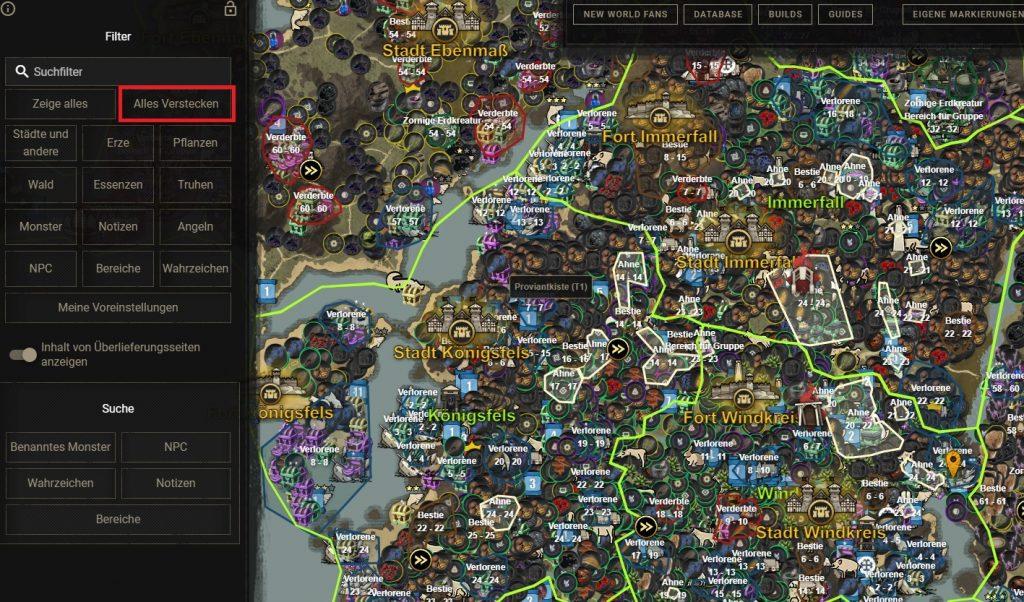 New World Map Filter