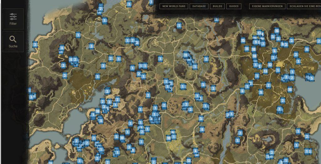 New World Map Lore