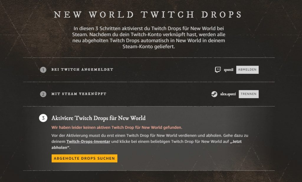 New World Twitch Drops