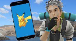 Pokémon GO blauer Hintergrund
