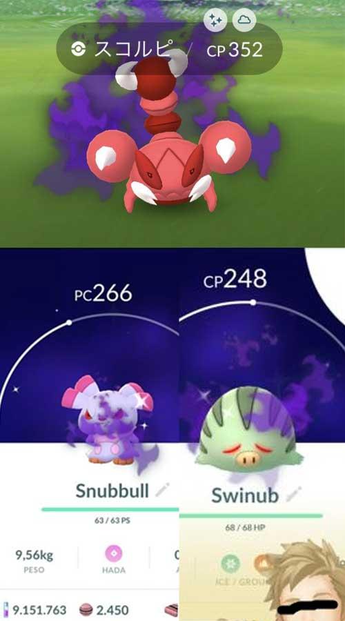 Pokémon-GO-Crypto-Shiny-Quiekel-Snubbull-Pionskora