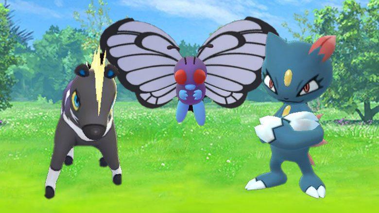 Pokémon-GO-Elezeba,-Smettbo,-Sniebel