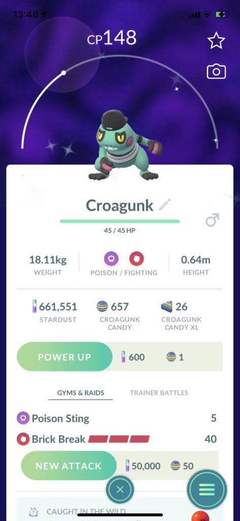 Pokémon GO Shiny Kostüm Glibunkel