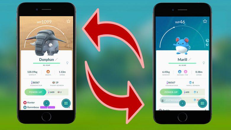 Pokémon-GO-Tauschen