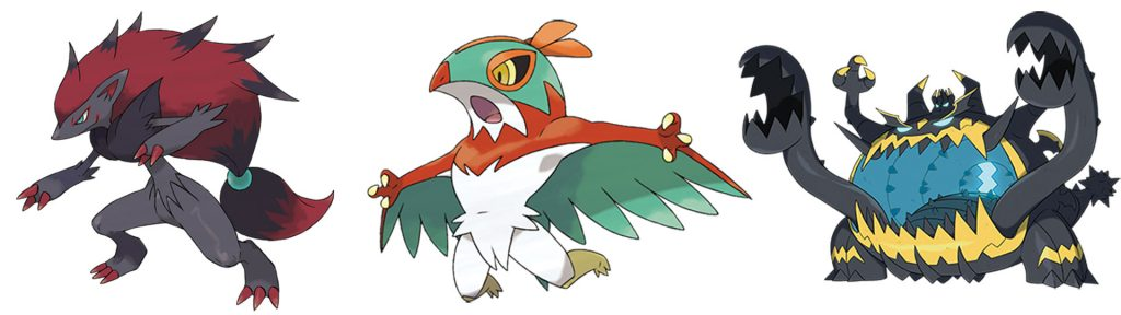 Pokémon-GO-Zoroark,-Resladero-und-Schlingking