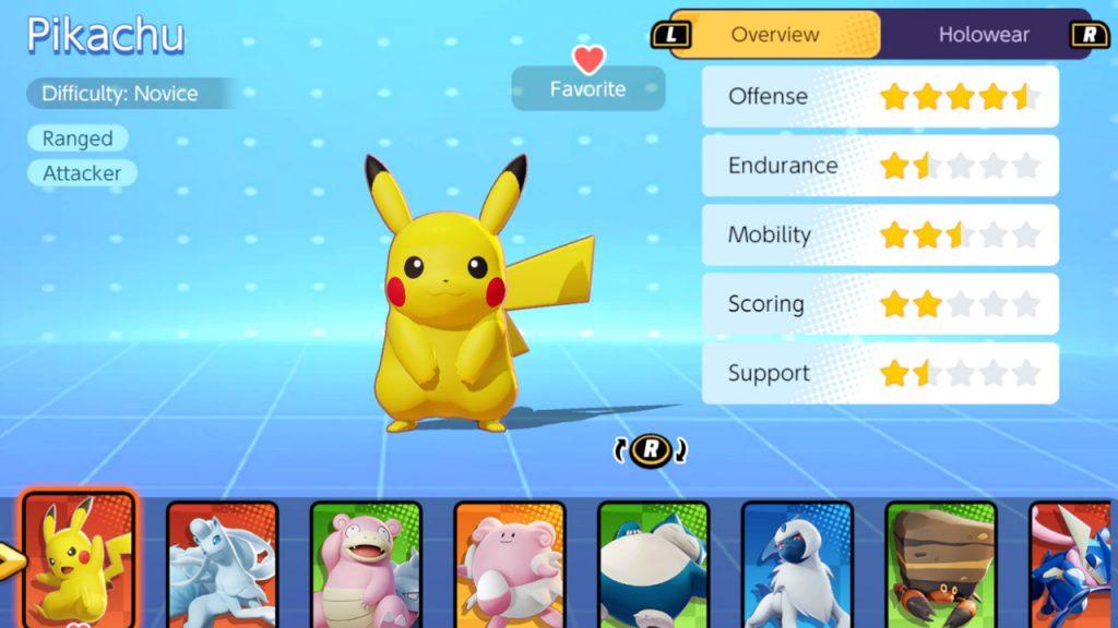 Pokemon-Unite-Pikachu-Stats