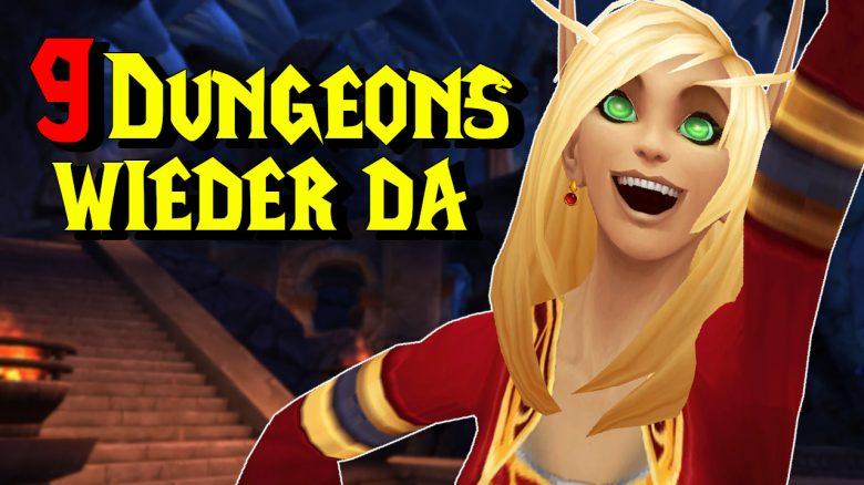 WoW 9 Dungeons wieder da titel title 1280x720