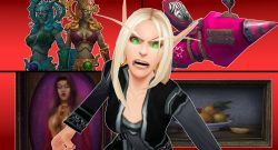 WoW Angry Blood Elf Changes to women titel title 1920x1080