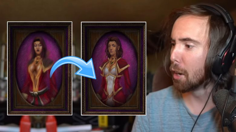 WoW Asmongold Women no cleavage titel title 1280x720