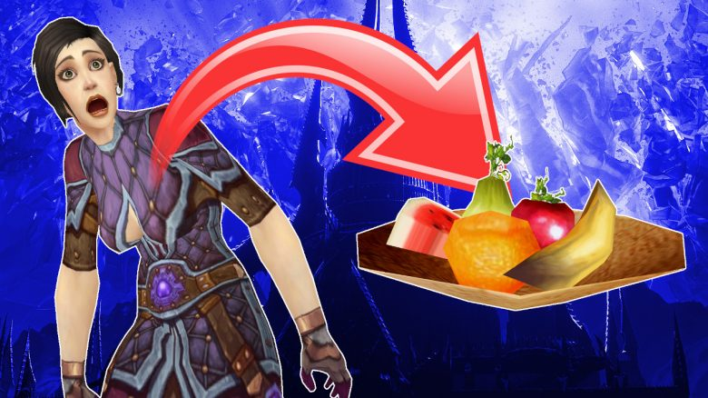 WoW Human Female Mage Turned into Fruit Bowl titel title 1280x720