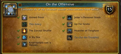 WoW On the Offensive Achievement