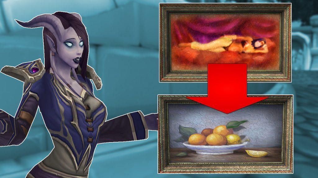 WoW Woman to Fruit Draenei Asking titel title 1280x720