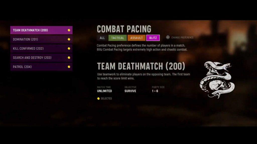cod vanguard combat pacings filter