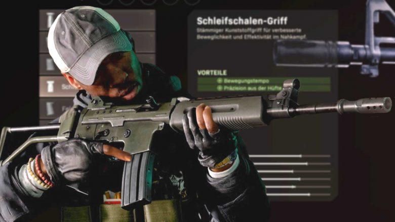 cod warzone bruiser grip und wichtige aufsätze auf deutsch titel