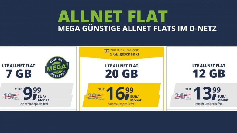 20-GB-Allnet-Flat im D-Netz zum Sparpreis: Nur 16,99 € bei freenet mobile