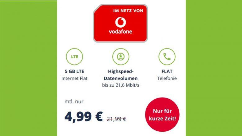 5-GB-Tarif mit Flatrate im D-Netz zum Hammerpreis bei Mobilcom-Debitel