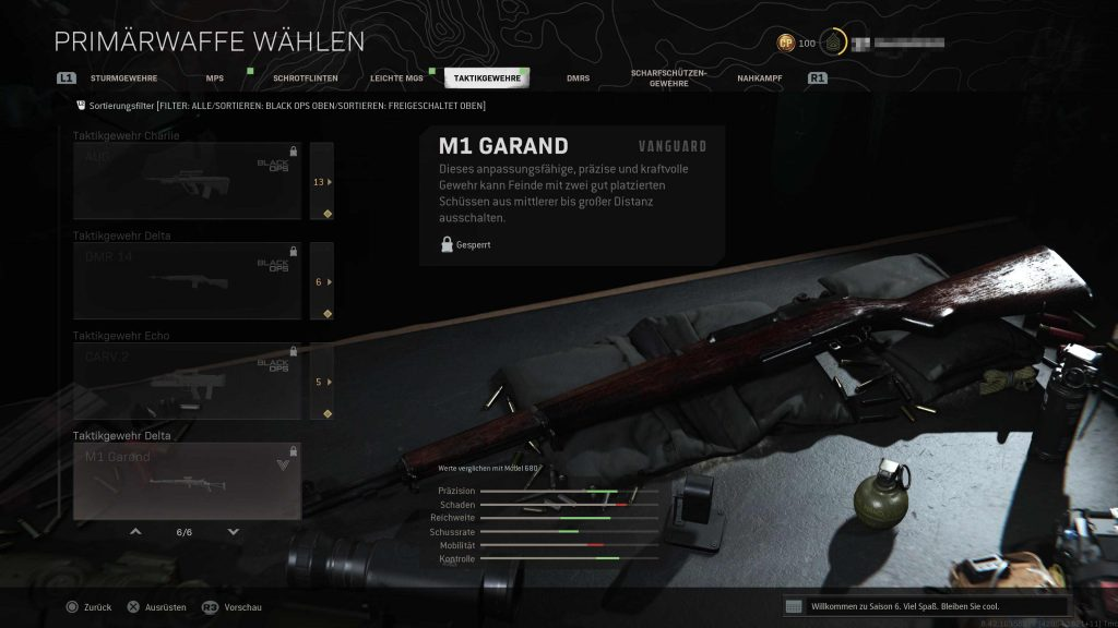 CoD Vanguard Warzone M1 Garand