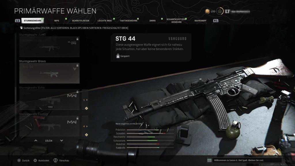 CoD Vanguard Warzone STG 44