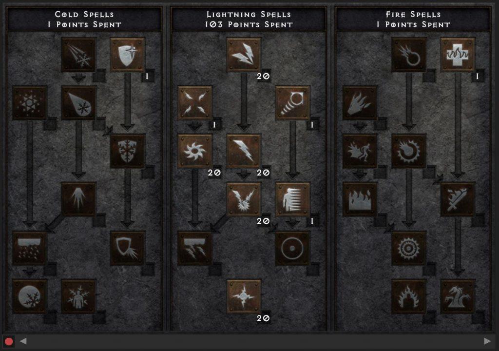 DIablo 2 Blitz Zauberin build maxroll