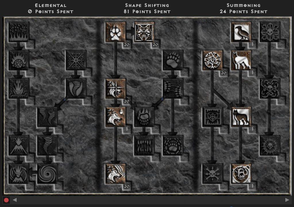 Diablo 2 Rusrrected Fury Druid Build
