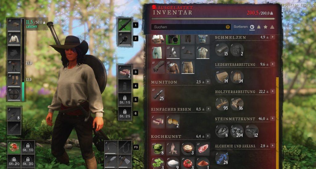 New World Inventar ausgelastet