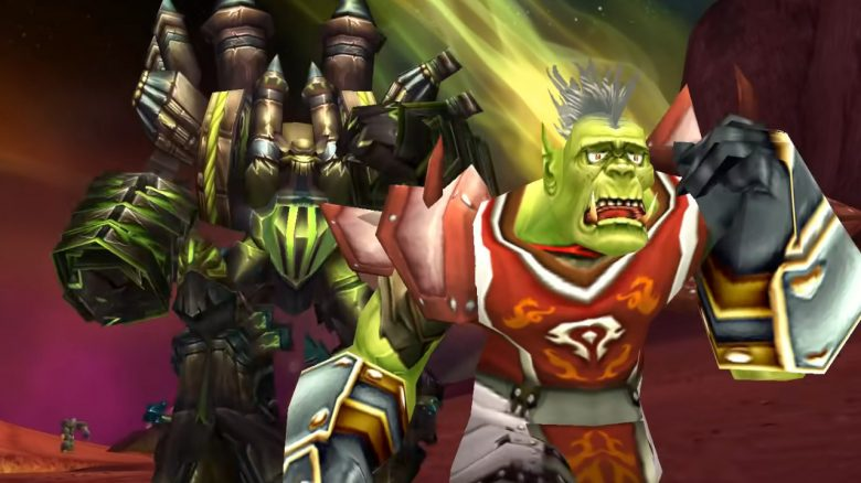 WoW Classic Fel Reaver Orc running from it with panic titel title 1280x720