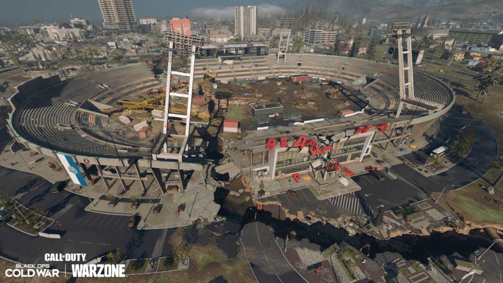 cod warzone season 6 map anpassung - stadion