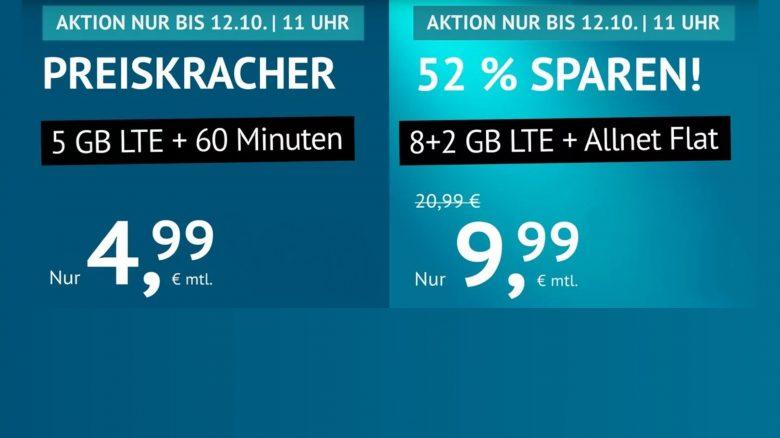 10 GB LTE + Allnet FLAT für nur 9,99 Euro bei Handyvertrag.de