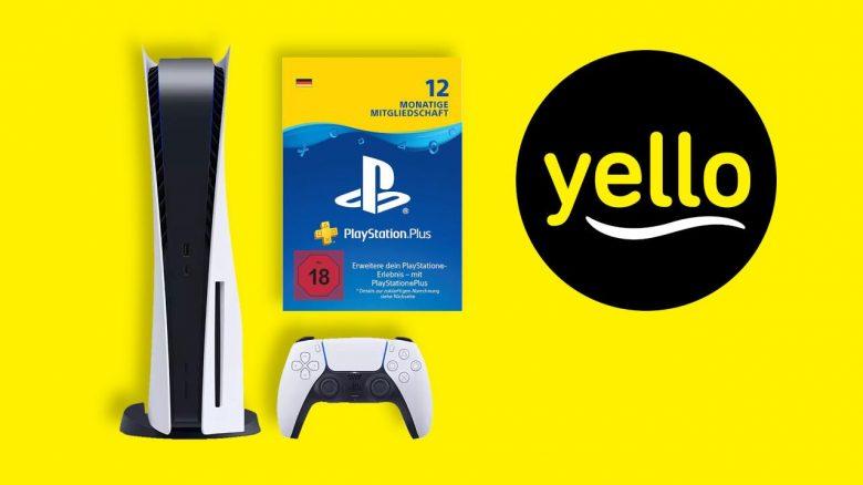 PS5 im Bundle kaufen: Jetzt im yello Strom-Vertrag mit 12 Monate PS Plus