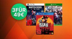 Saturn 3-für-49 Euro Aktion: Spiele für PS5, PC, Switch & Xbox im Angebot